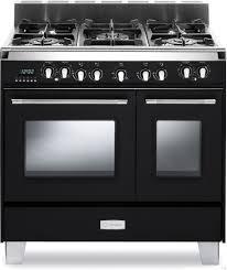 black appliance matte seamless kitchen: european convection main oven manual clean digital clock timer glide rack and storage drawer matte black
