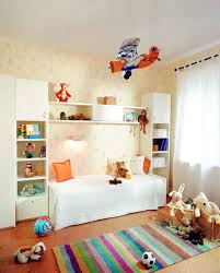 cozy small kids bedroom ideas with trendy white murphy bed and sweet brown patterned alluring murphy bed desk