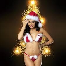 Red <b>Christmas</b> Lingerie Set <b>Sexy</b> Lingerie Women's <b>Three</b>-<b>point</b> ...