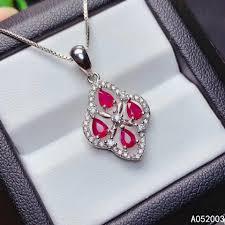 <b>KJJEAXCMY Fine Jewelry</b> 925 Sterling Silver inlaid Natural ruby ...