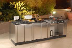 set cabinet full mini summer: free standing stainless steel outdoor kitchen cabinet with built in sink and cooktop also grill