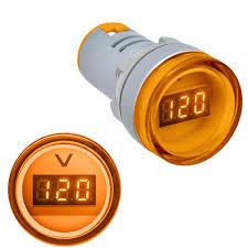 <b>3pcs Yellow 22MM AD16</b> AD16-22DSV Type AC 60-500V Mini ...