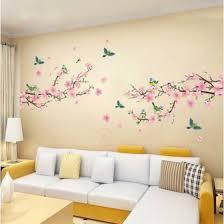 Shop Peach Blossom Magpie <b>Wall Sticker 2pcs</b> PVC Waterproof ...