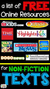 best images about middle school informational text great online resources for nonfiction reading for kids