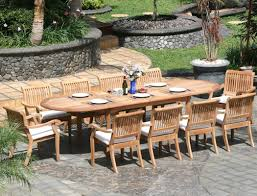 teak patio table dining  piece grade a teak dining set large oval table and stacking arm chair