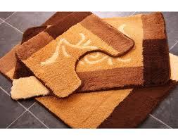 orange piece bathroom rug sets