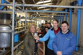 agri aware s farm walk and talk a huge success students from st columba s comprehensive school glenties co donegal pictured dr vanessa woods ceo agri aware and adrian mckeague of lakeland