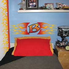 designs car lovers flames bedroom