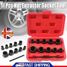 <b>11 Piece</b> Locking Wheel Nut Remover Bolt Stud <b>Bolt Extractor</b> Set ...