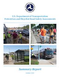 summary report dot pedestrian and bicyclist road safety image of the report s front cover