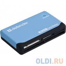 <b>Картридер Defender</b> ULTRA USB 2.0 Black-Blue — купить по ...