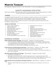 quality control inspector resume sample  seangarrette coquality assurance executive resume objective with areas of expertise and professional experience   quality control inspector resume
