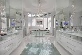 bathroom experiences chandelier