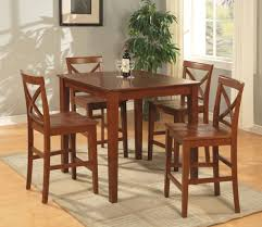 dining room pub style sets: pc square pub set counter height table with  wood seat stools in