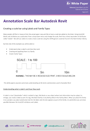 annotation scale bar for autodesk revit cadline community the white paper to more