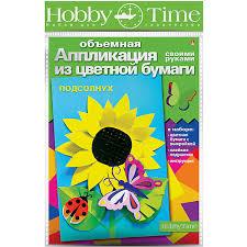 """Купить <b>Объемная аппликация HOBBY TIME</b> """"Подсолнух"""" из ..."""