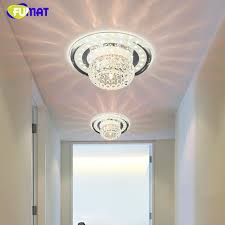 FUMAT Foyer Ceiling Lamps LED K9 <b>Crystal Round Ceiling Lights</b> ...