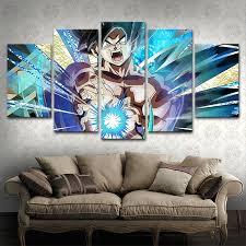 <b>5 Piece Animation Goku</b> Dragon Ball Canvas Printed Wall Pictures ...