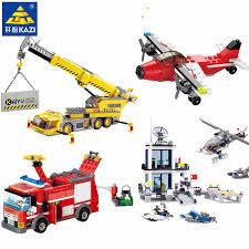 <b>491Pcs City Rescue Fire</b> Fighting Truck Building Blocks Firemen ...