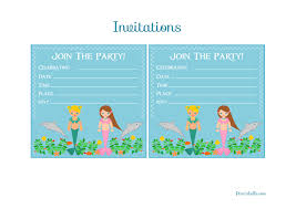 mermaid invitation template com mermaid birthday party printables from printabelle catch my