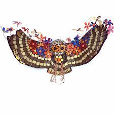 Blodeuwedd - <b>owl</b> of <b>flowers</b> - Kate Rattray - Mosaic Artist