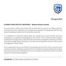 stanbic bank in hot soup over official response to mukono branch though the statement aimed at stabilizing the situation it has instead given people a chance to express their heartfelt antagonism and there by trashing