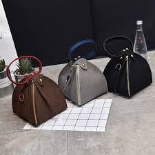 PACGOTH New Trendy <b>Fashion PU</b> Leather Scrub Solid Triangle ...