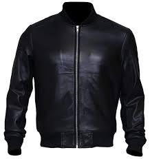 Stand Up Collar <b>Mens Casual</b> Bomber Motorcycle <b>Lambskin</b> Black ...