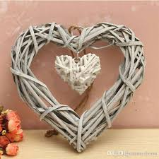 2019 New Arrival <b>Chic Wicker Heart</b> Wreath Home Wall Hanging ...