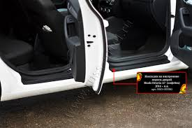 <b>Накладки на внутренние пороги</b> дверей для Skoda Octavia A7 ...