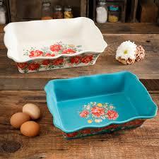 The Pioneer Woman <b>Vintage</b> Floral <b>2</b>-<b>Piece</b> Bakeware <b>Set</b> - Walmart ...