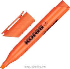 """<b>Kores Маркер выделитель</b> текста """"<b>Kores</b>"""" 1-4 мм, оранжевый"""