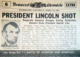 「1865, lincoln assassinated」の画像検索結果
