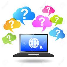 question mark web and internet concept globe icon on a laptop question mark web and internet concept globe icon on a laptop computer and questions mark