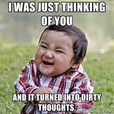 I Was Just Thinking Of You Little Boy Funny Picture For Whatsapp ... via Relatably.com