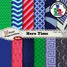 masks bathroom accessories set personalized potty: hero time digital paper inspired by pj masks designs include owlette feathers catboy suit pattern gekkos scales night ninjas suit amp more