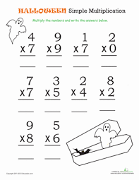 Halloween Math: Simple Multiplication 1 | Worksheet | Education.comHalloween Third Grade Multiplication Worksheets: Halloween Math: Simple Multiplication 1