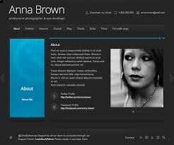 resume example  free sample for resume website templates resume        resume example  photographer  amp  web developer resume website template with portofolio and blog tab