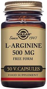 Solgar <b>L</b>-<b>Arginine 500 mg</b> Vegetable <b>Capsules</b> - Pack of 50 ...