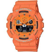 Купить кварцевые <b>часы Casio</b> G-Shock <b>ga</b>-<b>100rs</b>-<b>4aer</b> Orange в ...