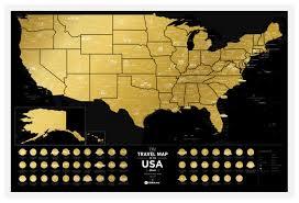 Географическая <b>карта 1DEA.me Travel</b> Map USA Black