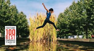 working at vmware w jumps through the air