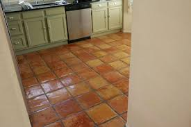 Terra Cotta Tile In Kitchen Dusty Coyote Stripping And Sealing A Saltillo Tile Floor