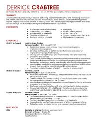 business analyst resume example contemporary   pngall job industries
