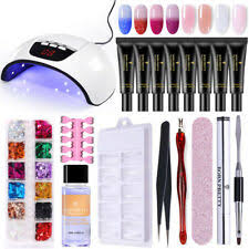 18Pcs/Set BORN PRETTY Poly Building UV <b>Gel Polish 45W</b> Nail ...