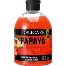 <b>Гель</b>-<b>пилинг для душа</b> с натуральным экстрактом <b>Delicare</b> Papaya