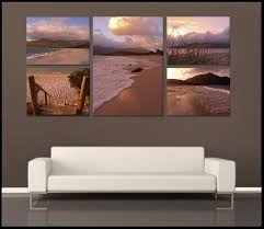 """Wineglass Bay Sunrise"" Tasmania <b>5 Piece</b> Fine Art Gallery ..."