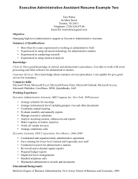 cover letter sample resume of executive assistant sample resume cover letter executive assistant objective unforgettable executive professional resumes simple and administrative resume examplesample resume of