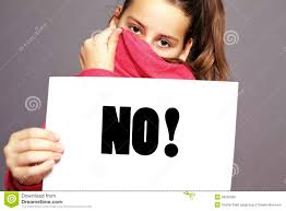 Image result for picture of girl saying no