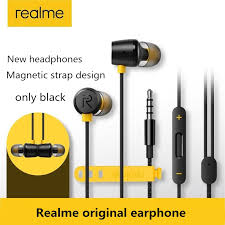 Original <b>in-ear</b> earphone for OPPO realme <b>Wire</b>-controlled magnetic ...